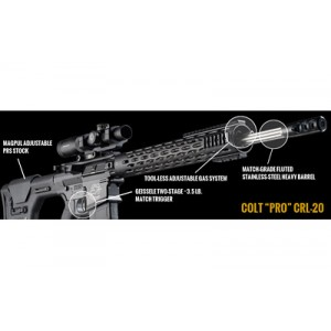 "Colt CRL-20 Pro .308 Winchester/7.62 NATO 20-Round 20"" Semi-Automatic Rifle in Black - CRL-20"