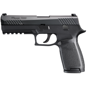 "Sig Sauer P320 Full Size 9mm 17+1 4.7"" Pistol in Black Nitron (SIGLITE Night Sights) - 320F9BSS"
