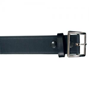 Boston Leather Garrison Belt in Black Plain - 40