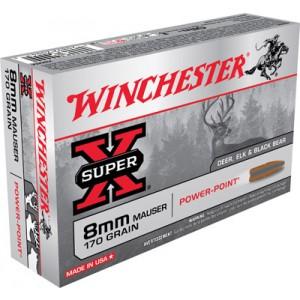 Winchester Super-X 8mm Mauser Power-Point, 170 Grain (20 Rounds) - X8MM