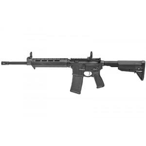 "Springfield Saint .223 Remington/5.56 NATO 30-Round 16"" Semi-Automatic Rifle in Black (Front/Rear Flip Sights) - ST916556BM"