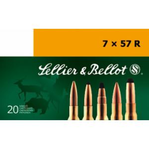 Magtech Ammunition Hunting Soft Point Cut-Through Edge 7X57 Mauser SPCE (Soft Point Cut-through Edge), 173 Grain (20 Rounds) - SB757RA