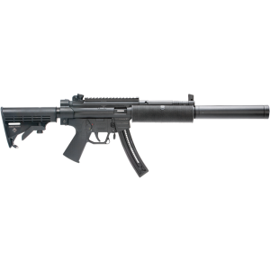 """American Tactical Imports GSG-522 SD Fake Suppressor .22 Long Rifle 10-Round 16.3"""" Semi-Automatic Rifle in Blued - 522SDLB10"""