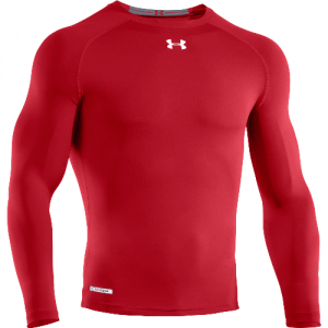 Under Armour HeatGear Sonic Men's Long Sleeve Compression Tee in Red - 2X-Large