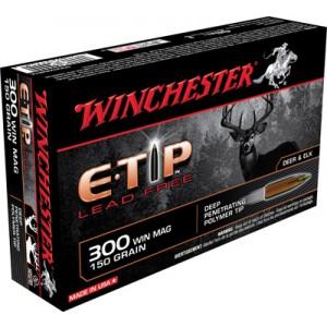 Winchester Supreme .300 Winchester Magnum E-Tip Lead-Free, 150 Grain (20 Rounds) - S300WMETA