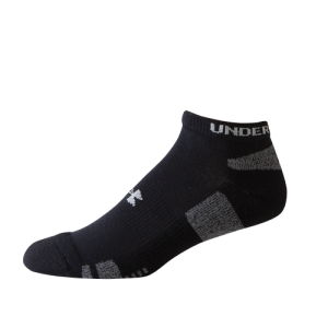 UA HeatGear Trainer NoShow 3 Pack Color: Black Size: Medium
