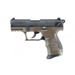 "Walther P22 .22 Long Rifle 10+1 3.42"" Pistol in Flat Dark Earth - 5120353"
