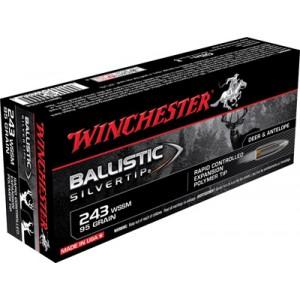 Winchester Supreme .243 Winchester Super Short Magnum Ballistic Silvertip, 95 Grain (20 Rounds) - SBST243SSA