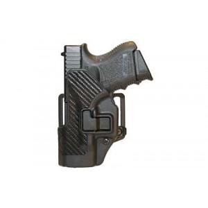 Blackhawk CQC Serpa Left-Hand Multi Holster for Glock 26, 27, 33 in Black Carbon Fiber - 410001BK-L