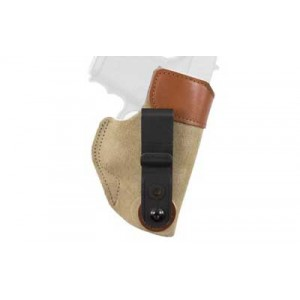 Desantis Gunhide 106 Sof-Tuk Left-Hand IWB Holster for Glock 26, 27/Walther PPS, PK380 in Tan Suede Leather - 106NBE1Z0