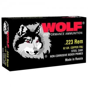 Wolf Performance Ammo Performance .223 Remington/5.56 NATO Bimetal Jacket, 62 Grain (500 Rounds) - 22362