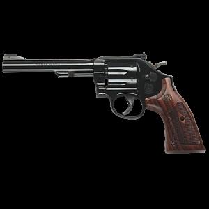 "Smith & Wesson 48 .22 Winchester Magnum 6-Shot 6"" Revolver in Bright Blue (Classic) - 150718"