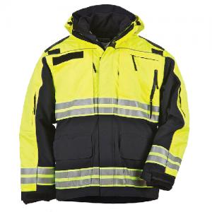 5.11 Tactical Responder High-Visibility Parka Men's Full Zip Coat in Dark Navy - Large