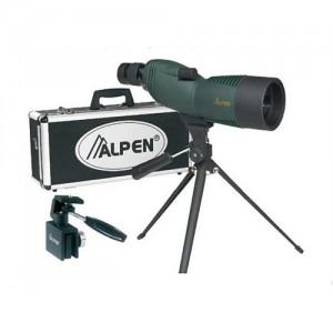 "Alpen Outdoor Model 725 Kit 13"" 15-45x60mm Spotting Scope in Green/Black - 725KIT"