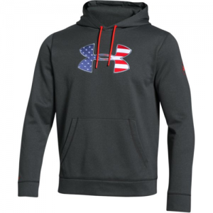 Under Armour Freedom Storm Men's Pullover Hoodie in Black - Large