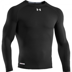 Under Armour HeatGear Sonic Men's Long Sleeve Compression Tee in Black - Large
