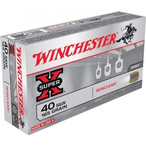 Winchester WinClean USA .40 S&W Brass Enclosed Base, 165 Grain (50 Rounds) - WC401