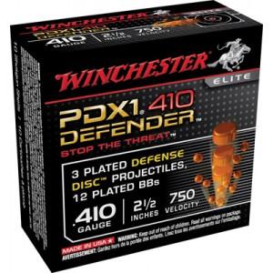 "Winchester Elite PDX1 Defender .410 Gauge (2.5"") BB Shot Steel (10-Rounds) - S410PDX1"