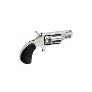 """North American Arms WASP Snub .22 Winchester Magnum 5+1 1.125"""" Pistol in Stainless - NAA-22MS-TW"""
