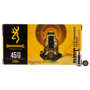 Browning BPT Performance .45 ACP Full Metal Jacket, 230 Grain (50 Rounds) - B191800451