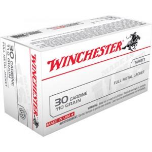 Winchester Q Series .30 Carbine Full Metal Case, 110 Grain (50 Rounds) - Q3132