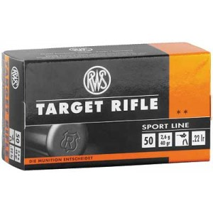 Umarex Firearms RWS Ammunition .22 Long Rifle Lead Round Nose, 40 Grain (50 Rounds) - 2132478