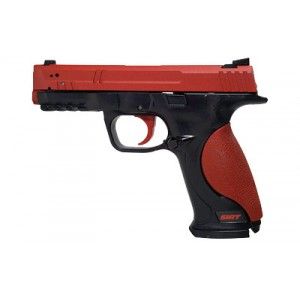 Nextlevel Training Sirt 107 Pro Rg Trainer Pistol, Red Steel Slide With Red Trigger Take-up And Green/red Shot Indicating Laser, Red And Black Finish 01-107-s2g000-00
