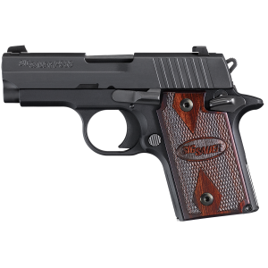 "Sig Sauer P938 Micro-Compact Extreme 9mm 7+1 3"" Pistol in Black Nitron (Black/Grey G10 Grip) - 938M9XTMBLKGRYAMBI"
