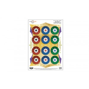 Birchwood Casey Pregame Target, Star Burst, 12x18, 8 Targets 35572