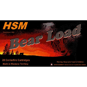 HSM Hunting Shack Bear .45-70 Government Round Nose Flat Point, 430 Grain (20 Rounds) - HSM457012N