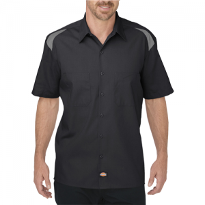 Dickies Shop Shirt Men's Uniform Shirt in Black/Smoke - 2X-Large