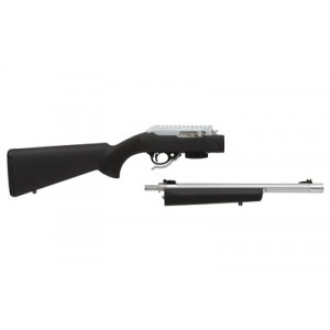 """Tactical Solutions X-Ring .22 Long Rifle Takedown 10-Round 16.5"""" Semi-Automatic Rifle in Silver - TD RTE-11 H-BLK"""
