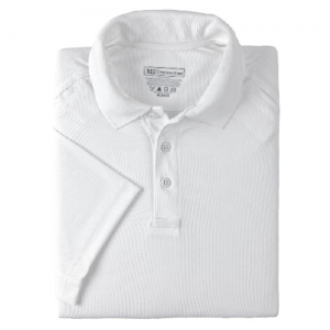 5.11 Tactical Performance Men's Short Sleeve Polo in White - 2X-Large
