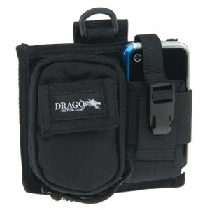 Drago Black Recon Camera Utility and Phone Case 600 Denier Polyester 16303BL