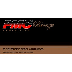 PMC Ammunition Bronze .40 S&W Jacketed Hollow Point, 165 Grain (50 Rounds) - 40B