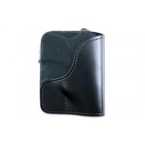 Desantis Gunhide 21 Trickster Right-Hand Belt Holster for Sig Sauer P238, 380/Keltec P-3AT in Black Leather -