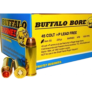 Buffalo Bore Ammunition .45 Long Colt Barnes XPB, 225 Grain (20 Rounds) - 3G/20