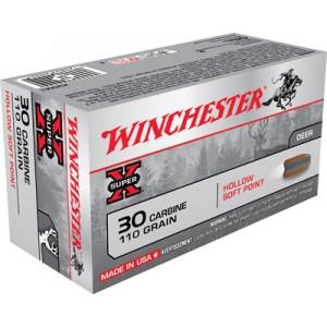 Winchester Super-X .30 Carbine Hollow Soft Point, 110 Grain (50 Rounds) - X30M1