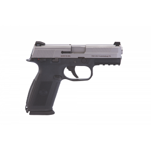 """FN Herstal FNS-40 .40 S&W 14+1 4"""" Pistol in Stainless Steel (Manual Safety) - 66941"""
