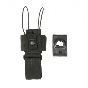 Universal Radio Case Swivel BL  Universal Radio Carrier - Swivel Loop Black, Shock cord retention strap fastens over top of radio for fast removal, Nylon web construction is durable, adjustable for height, width and depth, Case can be detached quickly fro
