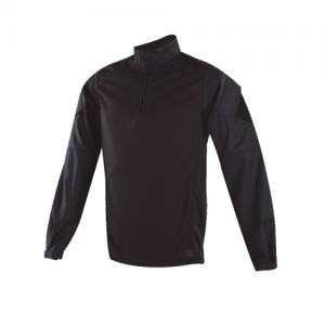 Tru Spec Regular 1/4 Zip Long Sleeve Large in Black - TRU Urban Force Combat Shirt
