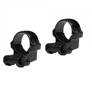 """Ruger 1"""" Medium Offset Matte Stainless Scope Ring In Clamshell Package 90288"""