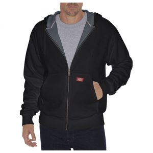 Dickies Thermal Lined Fleece Men's Full Zip Hoodie in Black - X-Large