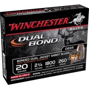 "Winchester Elite Dual Bond .20 Gauge (2.75"") Slug (Sabot) Lead (5-Rounds) - SSDB20"