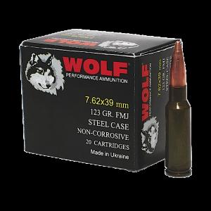 Wolf Performance Ammo 7.62X39 Bimetal Jacket, 123 Grain (1000 Rounds) - 762WFMJCS