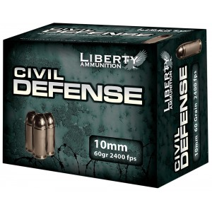 Liberty Ammunition Civil Defense 10mm Hollow Point, 60 Grain (20 Rounds) - LACD10032