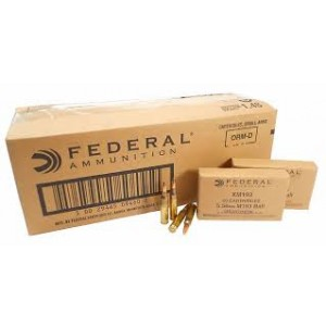 Federal Cartridge .223 Remington/5.56 NATO Boat Tail Metal Case, 55 Grain (20 Rounds) - XM193-500-CASE