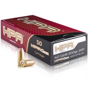 HPR Ammunition .40 S&W Jacketed Hollow Point, 200 Grain (50 Rounds) - 40200JHP