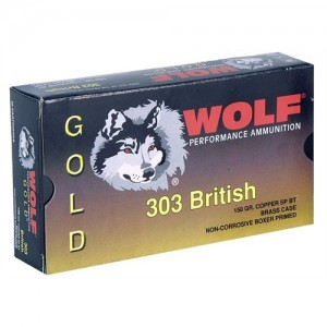 Wolf Performance Ammo Gold .303 British Jacketed Soft Point, 150 Grain (20 Rounds) - G303SP1