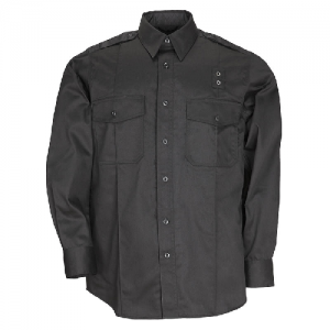 5.11 Tactical PDU Class A Men's Long Sleeve Uniform Shirt in Black - X-Large